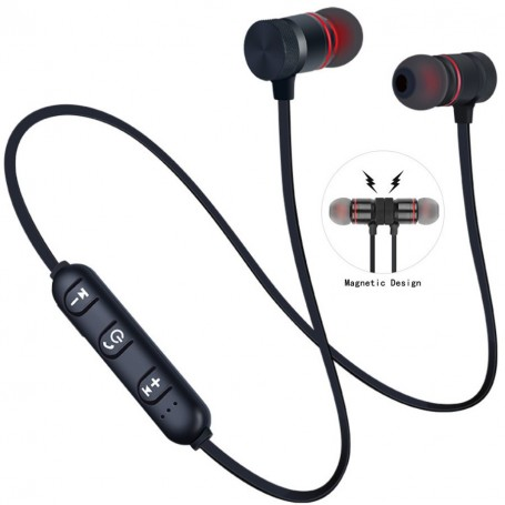 Bluetooth Earphones Magnetic Wireless With Mic