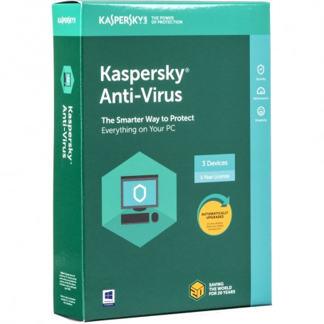 Kaspersky Anti-Virus 3 Devices 1 year Bilingual