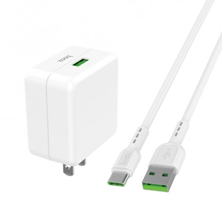 Wall Charger Quick Charge 4A VOOC & 5A USB C Cable