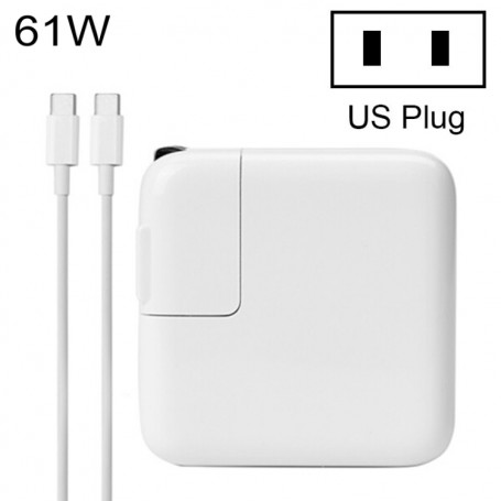61W Type-C Power Adapter Charger with 1.8m USB C Cable for MacBook Xiaomi Huawei Lenovo ASUS