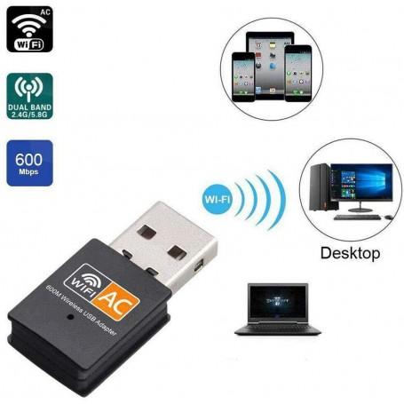 Nano USB AC600 Dual Band Wireless Card