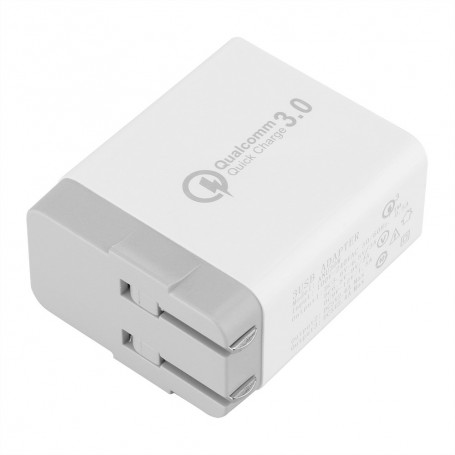 Wall Charger Quick Charge Qualcomm 3.0 3 USB Ports 30W
