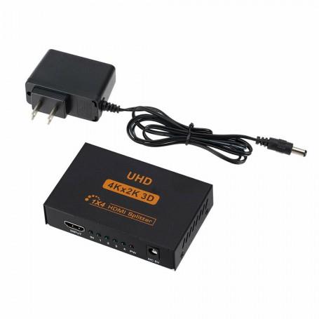 4 Port HDMI Splitter 4KX2K 3D 2160p 1080p