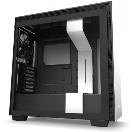 NZXT H710 ATX Mid Tower PC Gaming Case Front I/O USB Type-C Port Tempered Glass Side Panel Cable Management Steel White Black